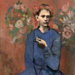 手拿烟斗的男孩 - 毕加索